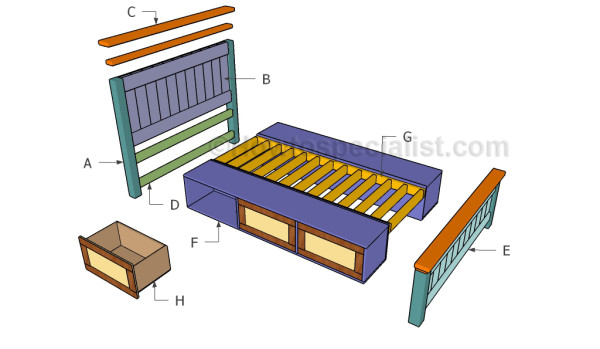 Building a storage bed