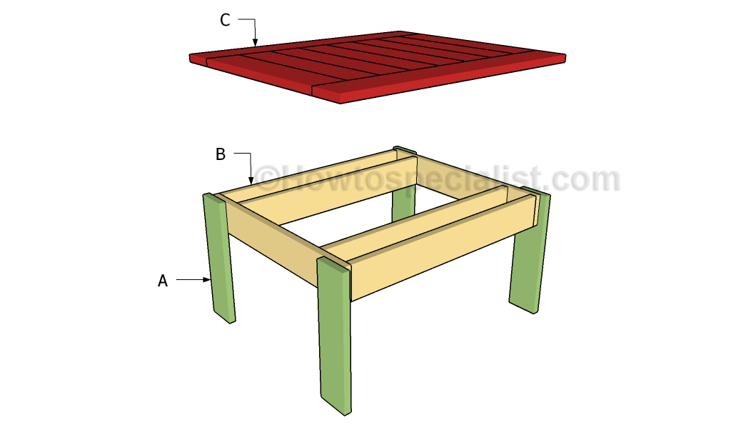 Backyard Table Plans : Small outdoor table plans  HowToSpecialist  How to Build, Step by