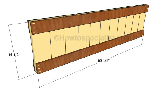 Building the footboard panel