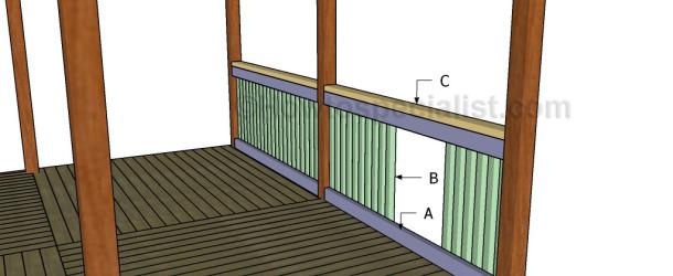 gazebo railings plans