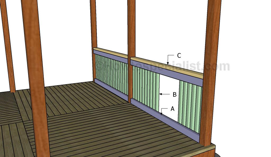 Building gazebo railings