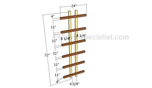 Building the side trellis