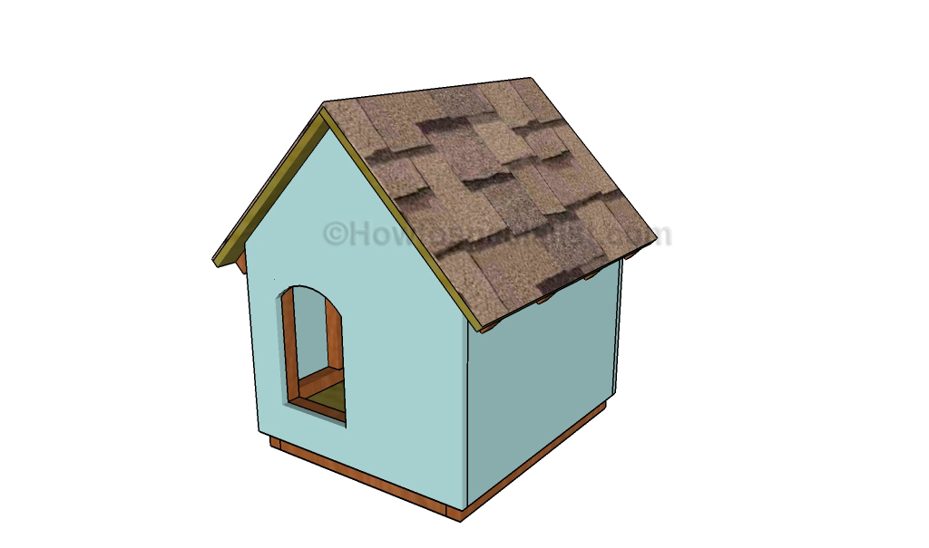 Diy dog house plans howtospecialist how to build step by step diy
