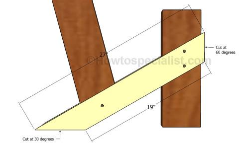 Fitting the diagonal braces