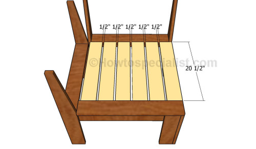 Fitting the middle seat slats