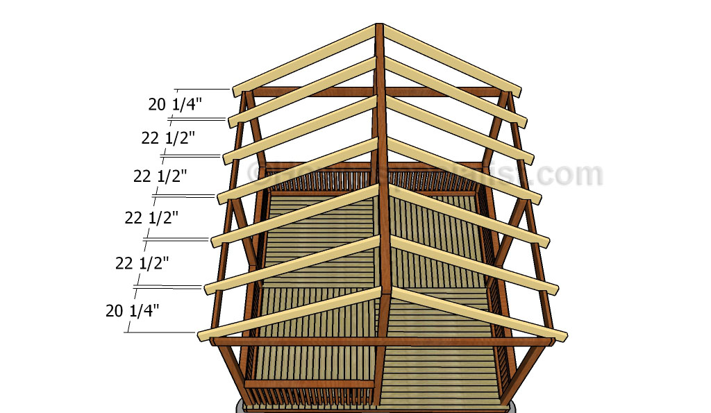 Square gazebo roof plans