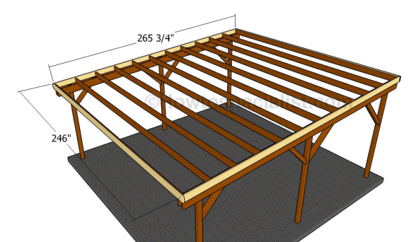 For Flat Roof Double Carport Plans : Flat roof double carport plans howtospecialist how to