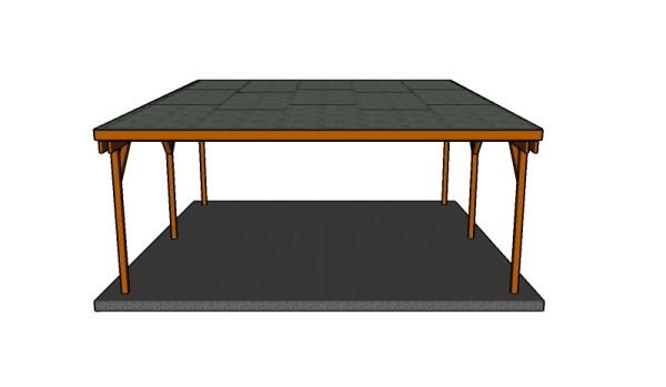 Flat Roof Double Carport Plans