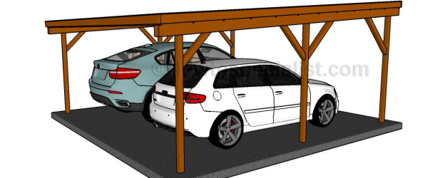 Flat roof double carport plans howtospecialist how to for 20x30 carport plans