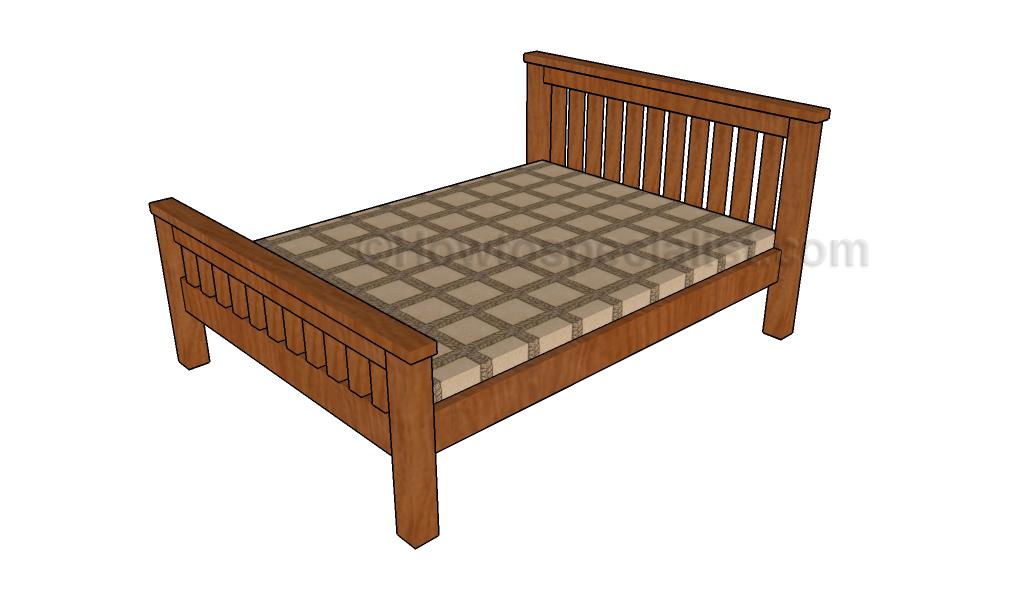 Full size bed frame plans for Diy full platform bed