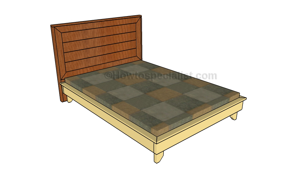 Full size platform bed plans | HowToSpecialist - How to Build, Step by ...