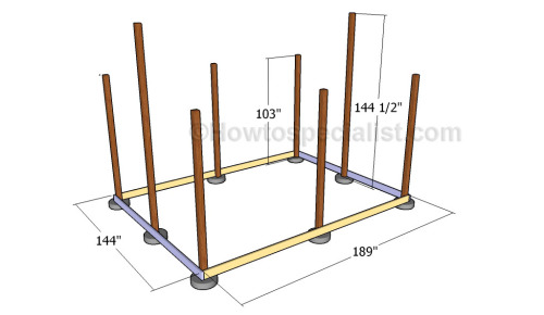 Installing the rim joists
