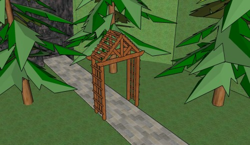 Peaked Arbor Plans Howtospecialist How To Build Step