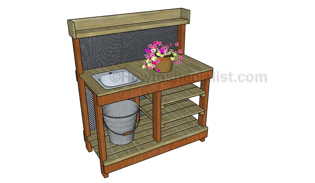 jack sander greenhouse potting bench work bench workshop