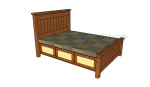 Queen size storage bed plans