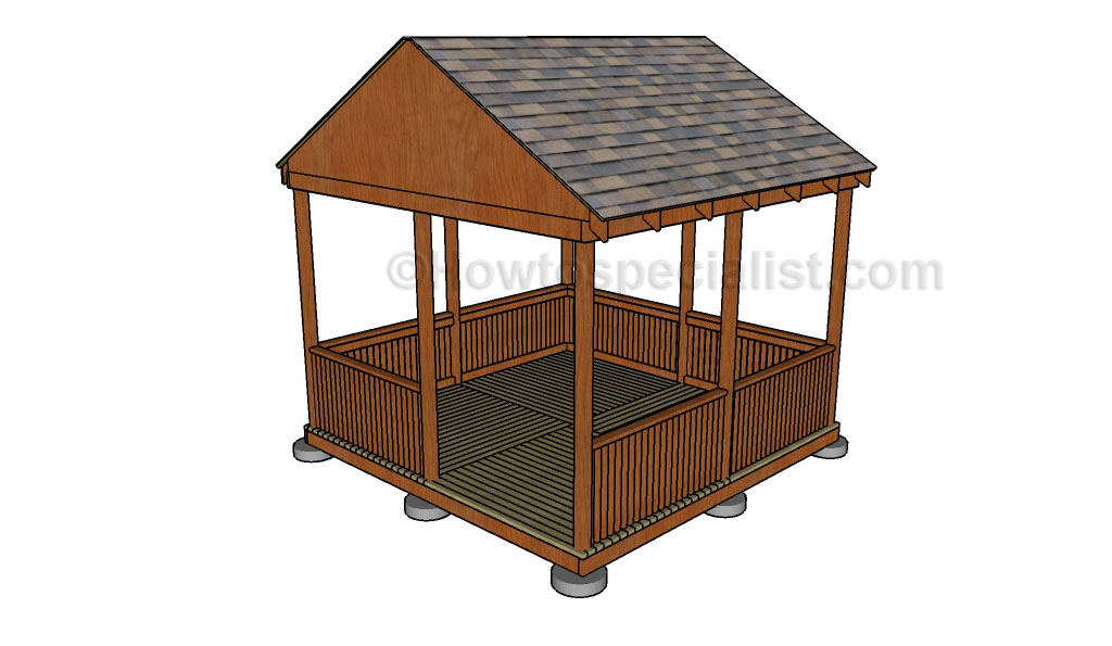 How to make a gazebo howtospecialist how to build for Simple gazebo plans