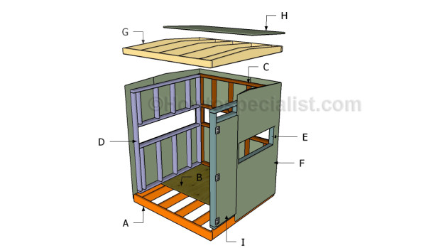 How to build a deer blind howtospecialist how to build for Diy deer stand plans