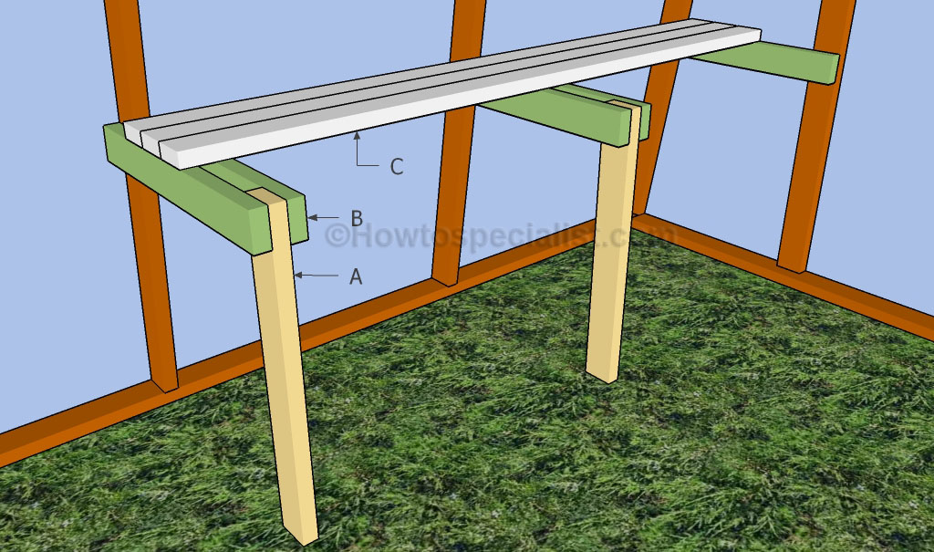 Building a greenhouse bench
