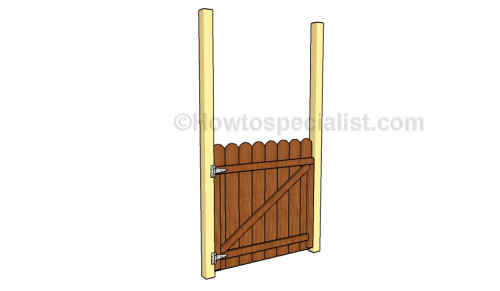 Fitting the gate to the posts