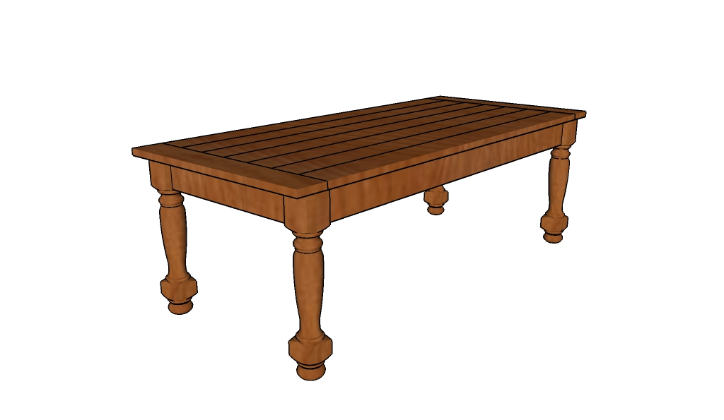 Turned Leg Coffee Table Plans Howtospecialist How To Build Step By Step Diy Plans
