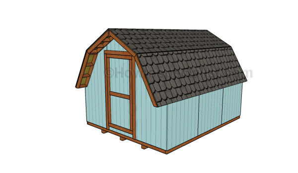 10x12 Barn shed plans free