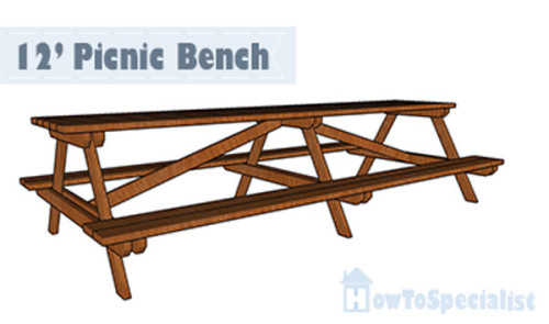 long picnic table plans howtospecialist how to build