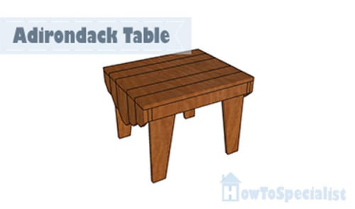 Adirondack Table Plans Howtospecialist How To Build Step By