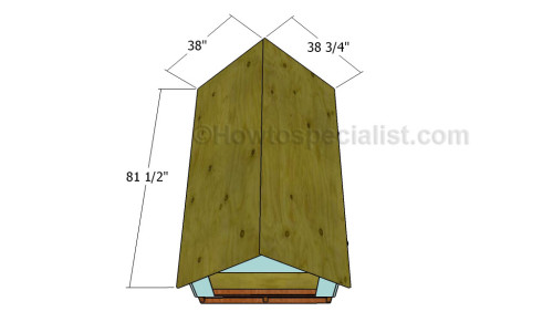 Attaching the plywood roofing sheets