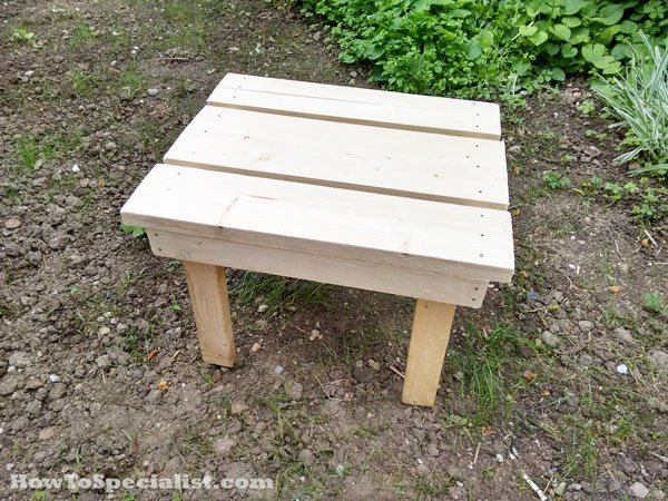Building an adirondack side table