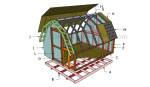 How to build a barn shed roof