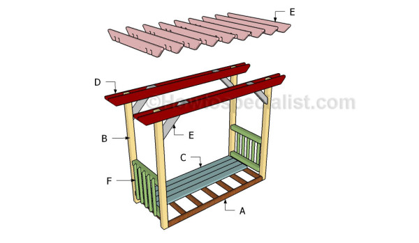Building a pergola with swing