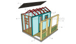 Kids playhouse roof plans