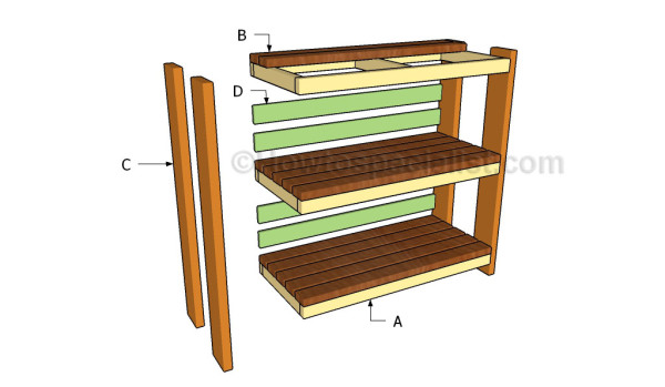 Building garden storage sheves
