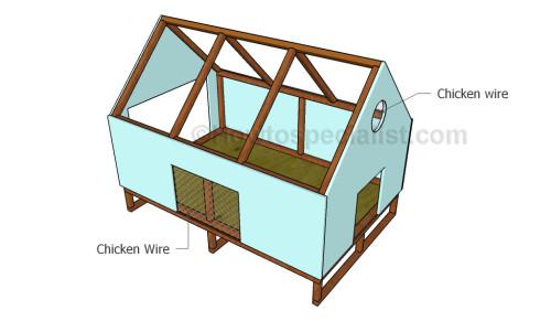 Fitting chicken wire