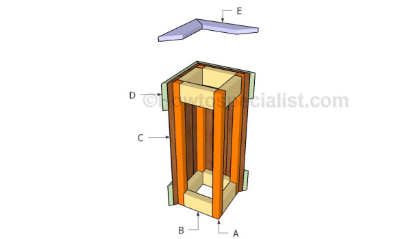 Building a tall planter box