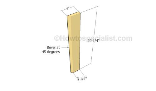 Building the corner slats