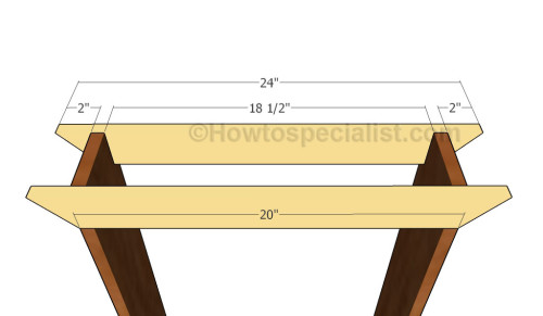 Building the top supports