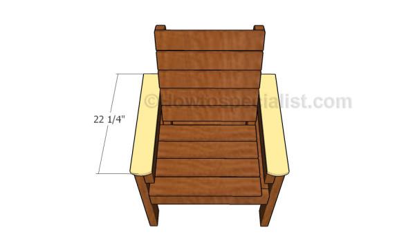 Fitting the armrest