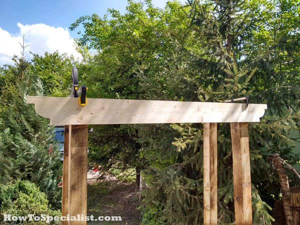 How to build a garden arbor with bench howtospecialist how to build step by step diy plans - Arbor bench plans set ...