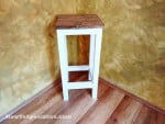 How to build a wood bar stool