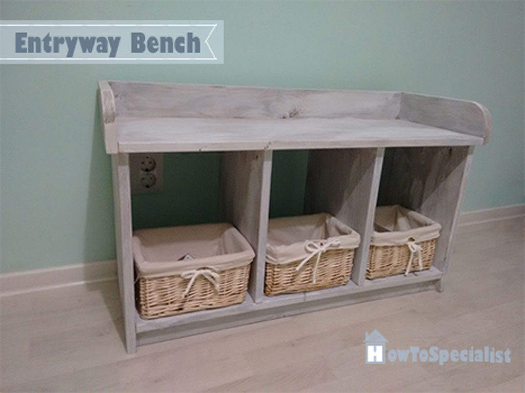 Foyer Bench Jobs : How to build a small entryway bench howtospecialist