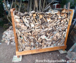 How to build a simple firewood rack