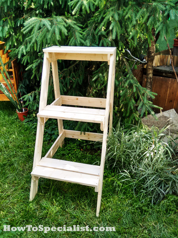 How to build a tiered plant stand howtospecialist how to build step by step diy plans - Ladder plant stand plans free ...