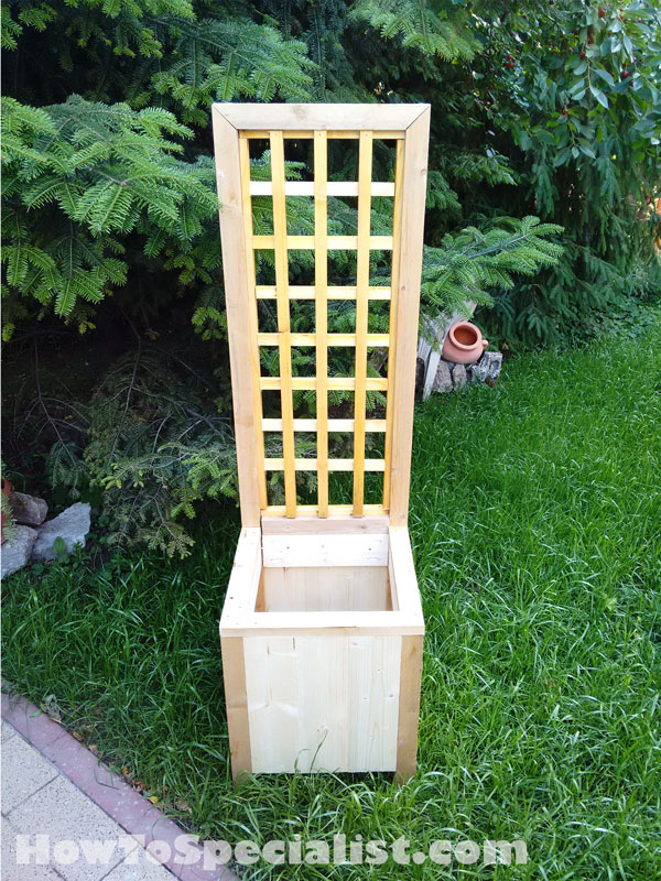 How To Build A Planter With Trellis Howtospecialist