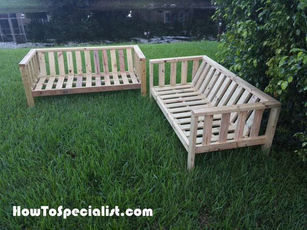 Diy Outdoor Sofa Howtospecialist How To Build Step By