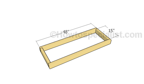Assembling the bottom frame of the rack