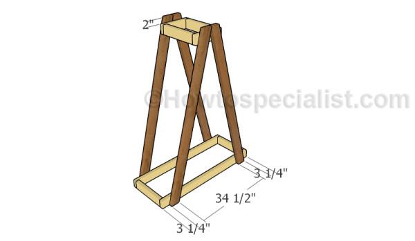 Assembling the lumber rack