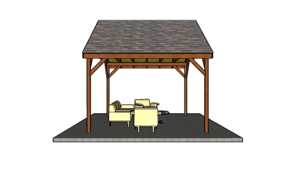 Building a 14x12 outdoor pavilion