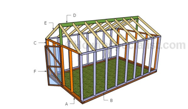 10x16 Greenhouse Plans HowToSpecialist How to Build Step by