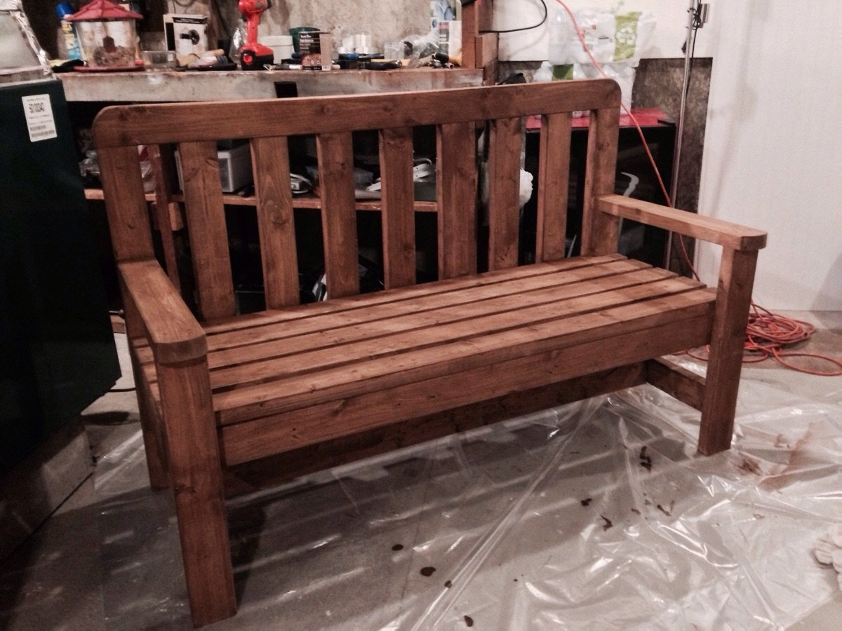 DIY 2x4 Bench | HowToSpecialist - How to Build, Step by Step DIY Plans
